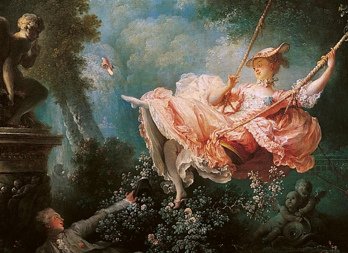 Detail aus Jean-Honoré Fragonards Gemälde